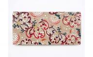 【文庫屋大関】スッキリ大人の財布 束入れ 乱菊〈赤紫〉【皮革工芸品】