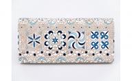【文庫屋大関】スッキリ大人の財布 束入れ 錦紗〈青〉【皮革工芸品】