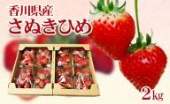 香川県オリジナル品種!さぬきひめ苺 2kg