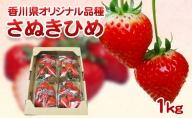 香川県オリジナル品種! さぬきひめ苺 1kg 年内受付