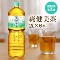『定期便』爽健美茶 2000mlPET×6本 全3回【38029】