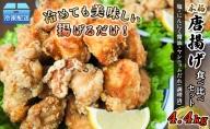 調理済☆唐揚げブラックセット 4.8kg【塩・にんにく醤油味】配送不可:離島