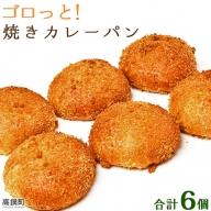 <ゴロっと!焼きカレーパン 6個>