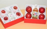 北海道壮瞥高等学校「リンゴ(ふじ)2L×4玉、リンゴジュース500ml×1本 化粧箱入」を2箱お届け!