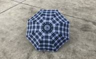 【 かさ 】高級雨傘 格子柄 駒取り 58cm[グレー](共袋付)男女共用 1本