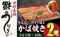 TB3-17 福うなぎのかば焼き(140~160g)×2尾+うなおむすび1個セット
