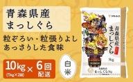 青森県産まっしぐら 10kg(5kg×2袋) ※6回定期便 安心安全なヤマトライス H074-211