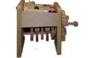 手作り木のおもちゃ お家で工作ビー玉ミニ階段