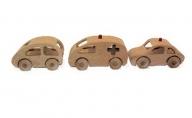手作り木のおもちゃ お得なミニカー3種セット