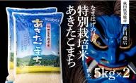 秋田県男鹿市産 特別栽培米 あきたこまち 5kg×2袋 【笹川商店】