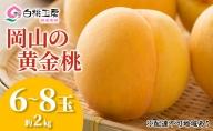 桃茂実苑 岡山黄金 桃 2kg(6~8玉)