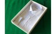 オーダーワイシャツWP(ノーアイロン仕様)-川西町産「白蝶貝」の貝ボタンを使用-