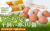 こだわりの平飼い卵30個(6個×5パック)