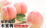 【2021年発送】錦の水蜜 桃 2kg(約6玉~8玉)【配送不可:離島】