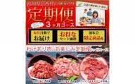 【ふるさと納税】 訳あり 定期便 肉 豚 薄切り わけあり肉の お楽しみ 定期便 3ヶ月コース<高知市共通返礼品>