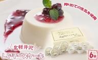 北軽井沢レアチーズケーキ6個セット