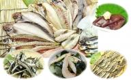 氷見の魚一夜干しと厳選氷見煮干し、伝統の味醂干し、白えび珍味、ほたるいか珍味と盛り沢山