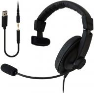 056-002SOUND WARRIOR密閉型片耳ヘッドセット(SW-TR1)