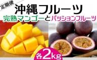 【2021年発送】完熟マンゴーとパッションフルーツのセット 各2kg