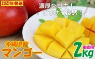 【2021年発送】濃厚な甘さの沖縄県産マンゴー2kg(家庭用)