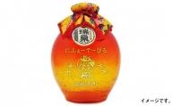 【琉球泡盛】「3年古酒琉球ガラス1升-橙-」はえるん柄 1,800ml