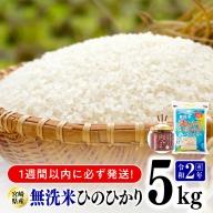 令和二年産無洗米宮崎ひのひかり5kg(トロントロン肉みそ1個付)