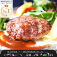 【瀬の本高原リゾート】あか牛ハンバーグ・馬肉ハンバーグセット