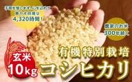 <令和2年産新米>三百年続く農家の有機特別栽培コシヒカリ(【玄米】10kg)