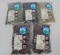 自然豊かな大野の地で育つ大豆4品種