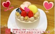 【期間限定】苺屋 バレンタイン 生チョコデコレーションケーキ U-165