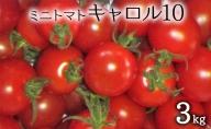 (品種:キャロル10)ミニトマト3kg(北海道仁木町産)