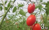(品種:アイコ)ミニトマト3kg(北海道仁木町産)